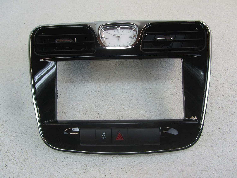 Morad Parts 13 Compatible with Chrysler 200 Black Radio Stereo Dash Bezel Trim Panel Hazard Buttons Clock