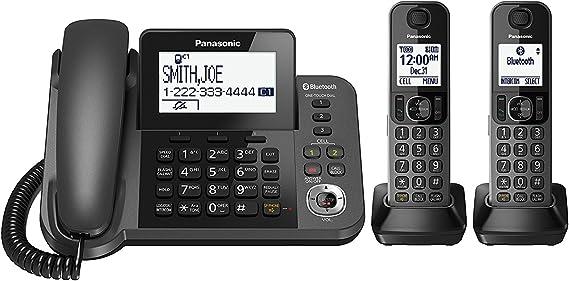 Panasonic kx-tgf382 m link2cell Bluetooth con Cable/inalámbrico teléfono inalámbrico y contestador automático con 2 teléfonos inalámbricos (Certificado Reformado): Amazon.es: Electrónica