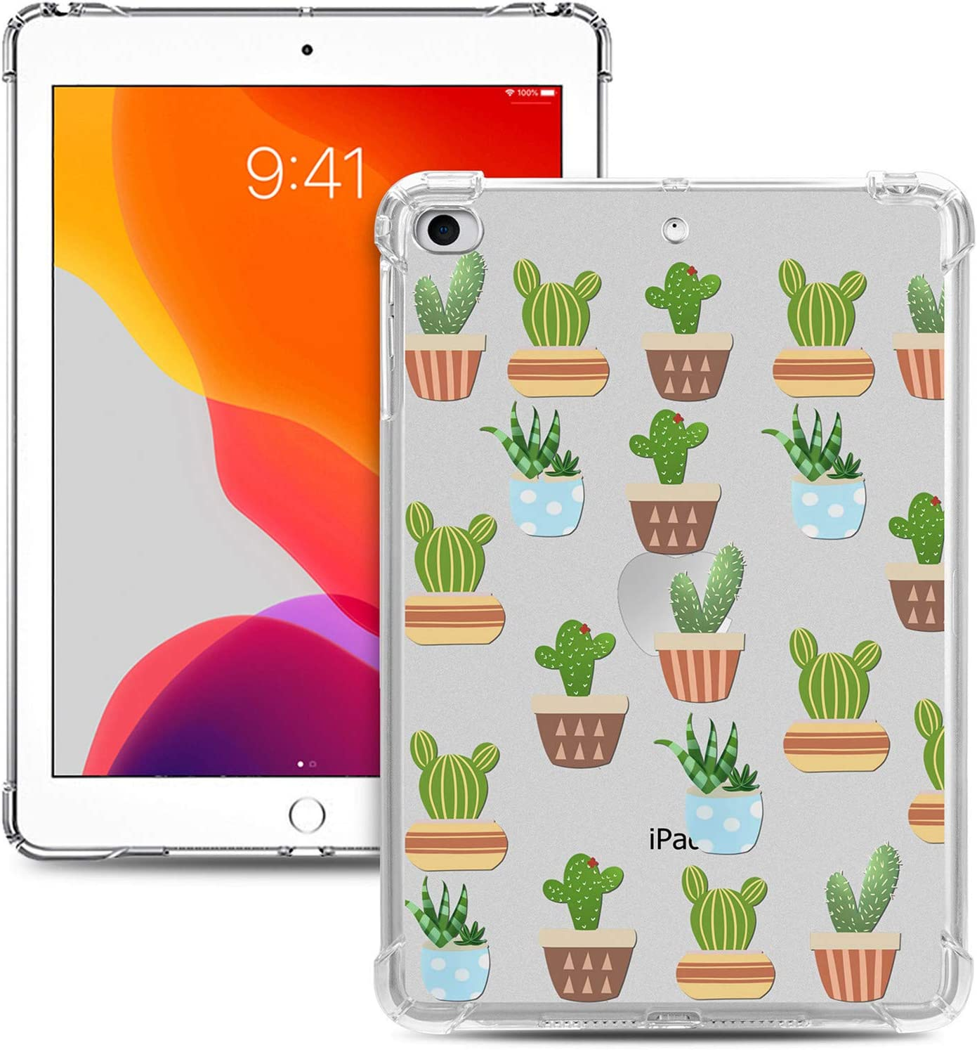 iPad Mini Case, Dteck Slim Lightweight Colorful Design [Corner Protection/Scratch Resistant] Soft TPU Clear Back Protective Cover for Apple iPad Mini 1/Mini 2/Mini 3/Mini 4/Mini 5, Cactus