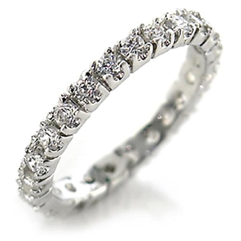Womens Brilliant Classy Round Cubic Zircon CZ AAA Grade Wedding Band Ring 45201
