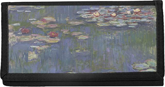 Impression Sunrise by Claude Monet Canvas Checkbook Cover