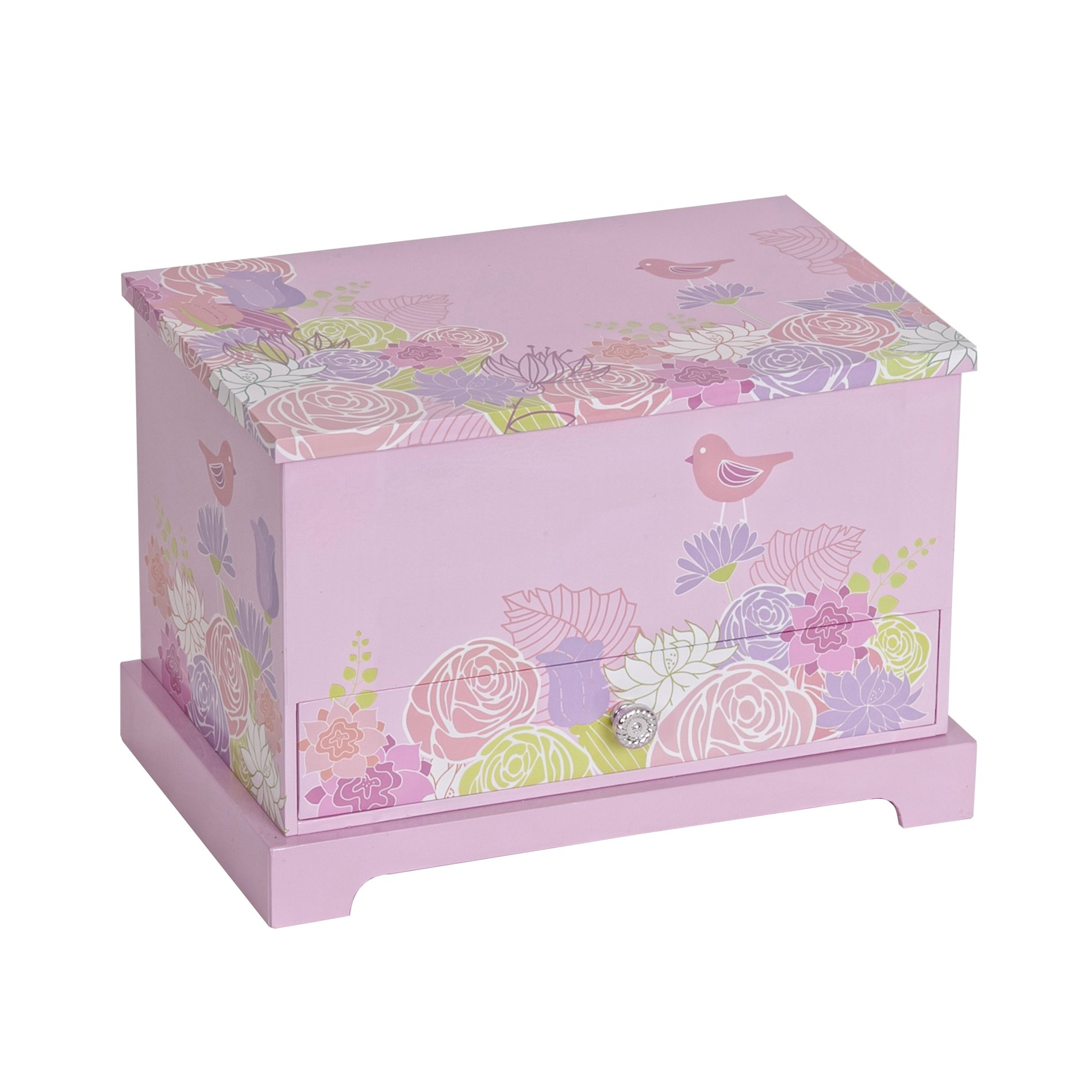 Mele & Co. Piper Girl's Musical Ballerina Jewelry Box (Bird & Blooms Design)