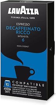 Café Espresso Decaffeinato Ricco Lavazza, Compatível com Nespresso, Contém 10 Cápsulas