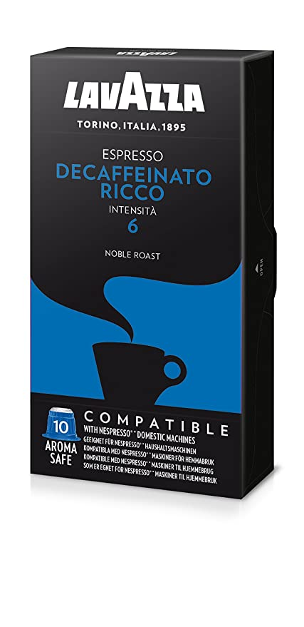 Lavazza Decaffeinato Espresso, Cápsulas de Café Descafeinado ...