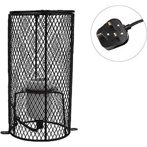 ZZM Reptile Light Guard 2pcs Reptile Lampshade Ceramic Heat Emitter Bulb Guard Pet Iron Wire Bulb Cage Anti-Scald Heat Lamp Cover