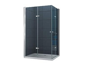 Eckeinstieg Duschkabine Dusche Vigo 100 X 90 X 195cm 8 Mm Ohne