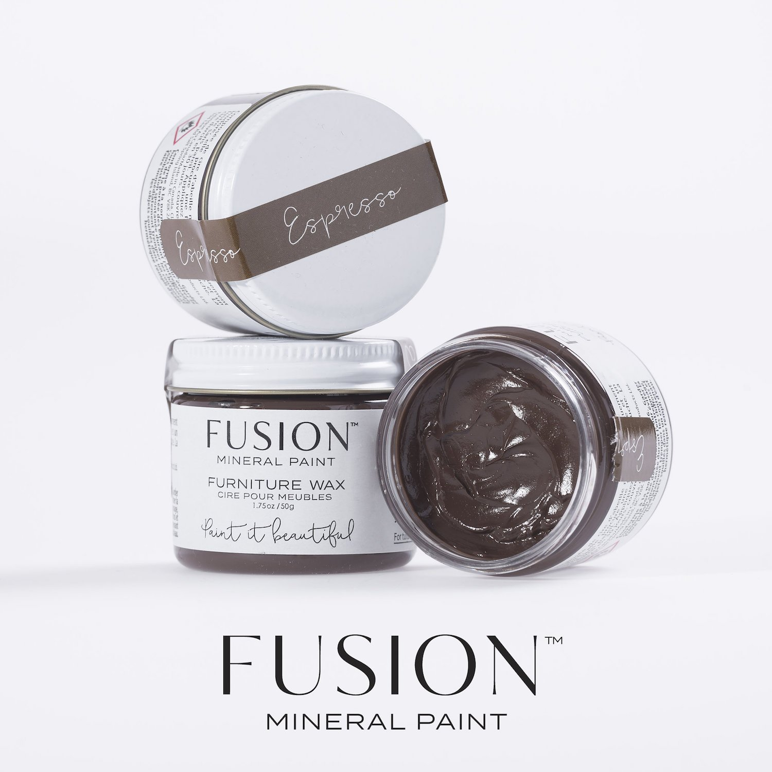 Furniture Wax 50g (Espresso) by Fusion Mineral Paint (Image #1)