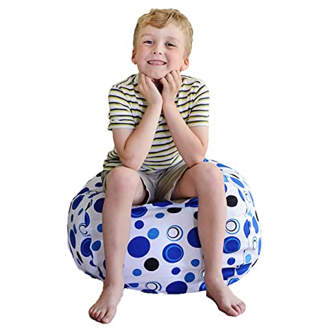 Amazon Creative QT Stuff 'n Sit Stuffed Animal Storage Bean Classy Pouf Bean Bag Chairs