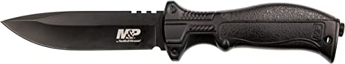 Smith Wesson M P M2.0 10in S.S. Full Tang Pistol Grip Swap Fixed Blade Knife w 4.75in Blade and Nylon Handle for Outdoor Tactical Survival and Everyday Carry