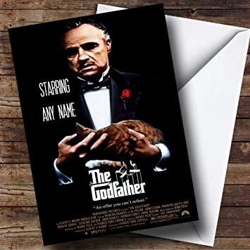 Personalised Spoof Godfather Movie Film Poster Birthday Card