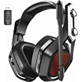 Mpow IronPro Wireless Gaming Headset 2.4G PC, PS5, PS4, Mac, Wired 3.5mm for Xbox & Wireless USB Over-Ear Headphone with…