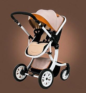 HJHY Carrito de bebé, puede sentarse acostado Alto Paisaje plegable Bebé Niño Luz de verano Newborns Trolley Transpirable, cómodo (Color : #5): Amazon.es: ...
