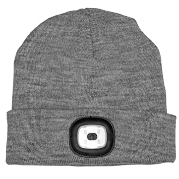 Fizz Creations Grey LED Beanie - Beanie hat with built in LED torch ... ea97012eddd7