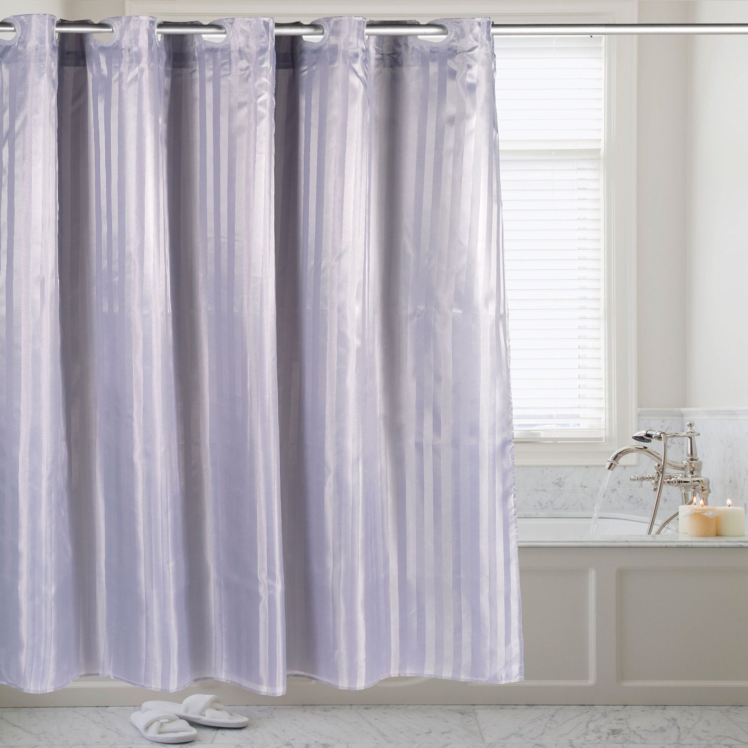 Amazon Com Sweet Home Collection Hookless 70 X 75 Shower Curtain