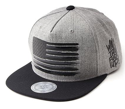 63191440ac5c7 Unisex Flipper Star and Stripes Printed Flat Brim Bill Baseball Cap Hip Hop Snapback  Hat (