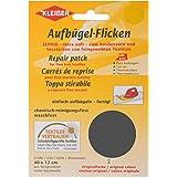 Kleiber - Parche de reparación termoadhesivo, de algodón, 40 x 12 cm, para telas de tejido fino, color gris oscuro