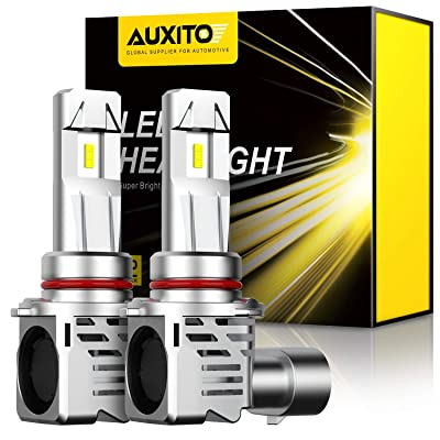 AUXITO 9005 LED Headlight Bulbs 12000LM Per Set 6500K Xenon White Mini Size HB3 Wireless Headlight, Pack of 2: Automotive