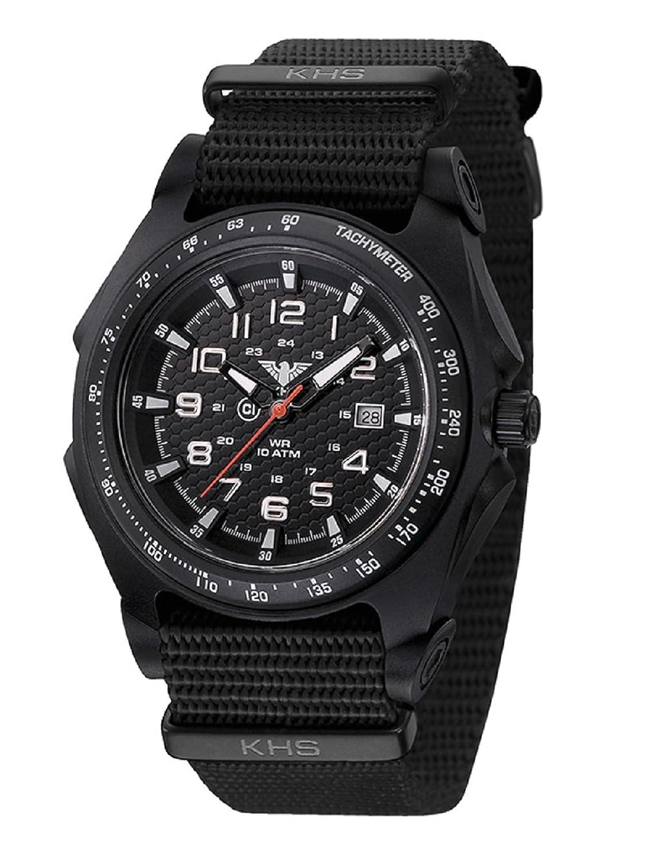 KHS Herrenuhr Sentinel A Black | Nato Black KHS.SEAB.NB