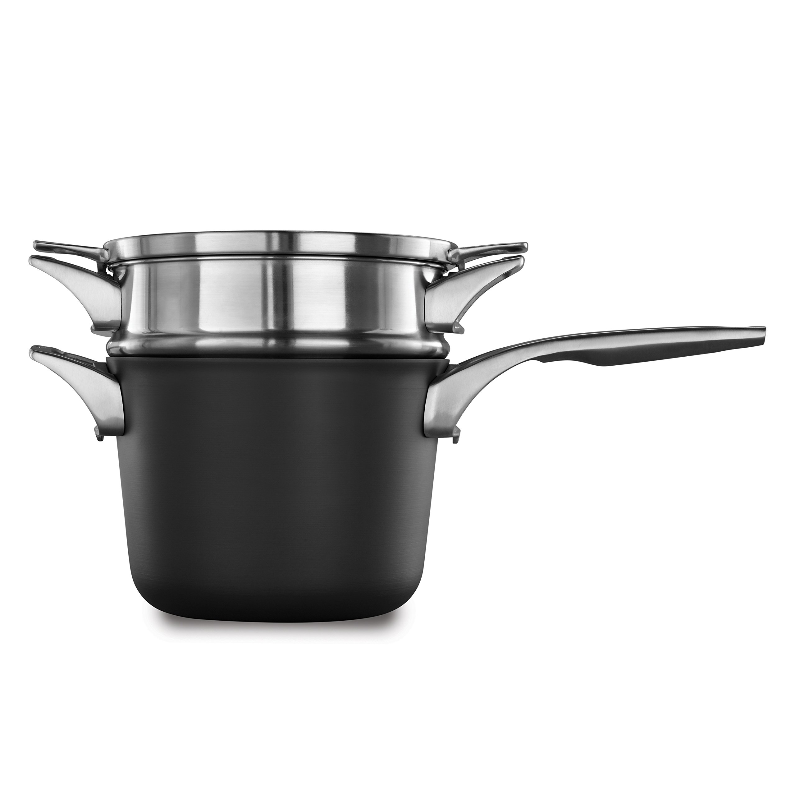Calphalon Premier Space Saving Nonstick 4.5qt Sauce Pan with Double Boiler