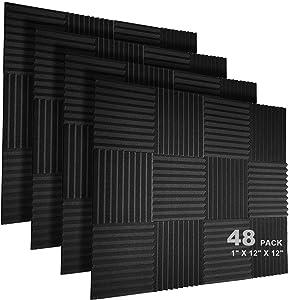 JBER 48 Pack Acoustic Foam Panels, 1