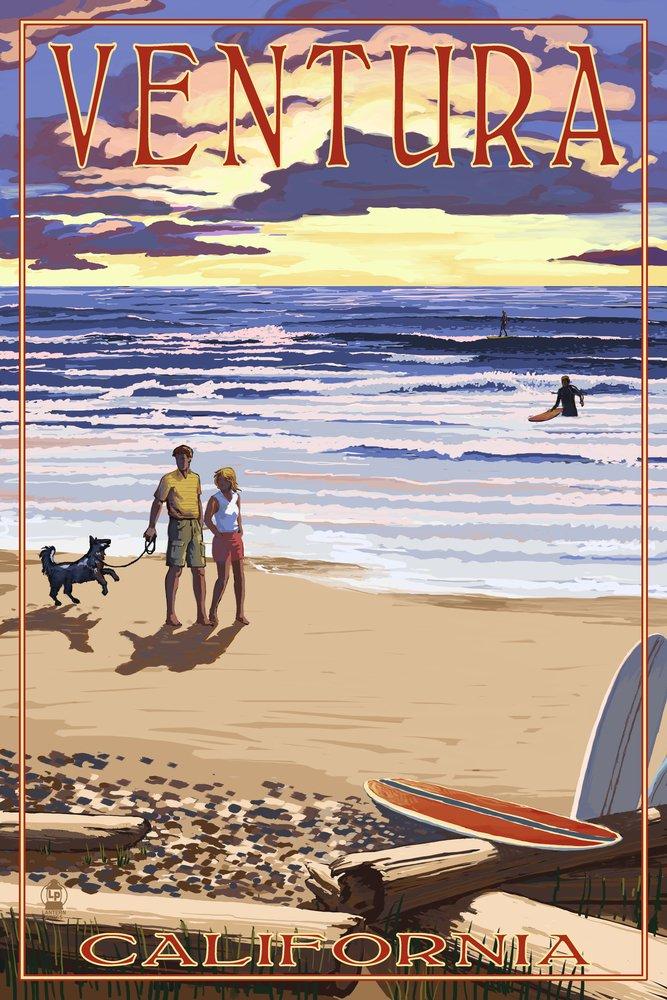 Ventura、カリフォルニア – サンセットビーチウォーク 36 x 54 Giclee Print LANT-46340-36x54 B017E9ZMXO  36 x 54 Giclee Print