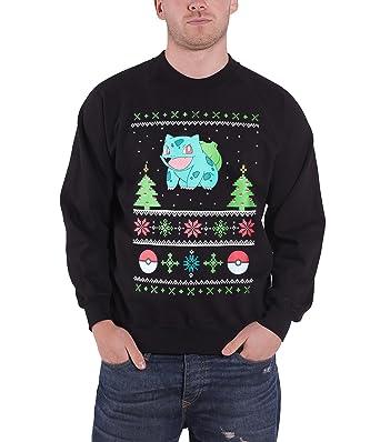 Pokemon Christmas Sweater.Amazon Com Pokemon Christmas Jumper Sweatshirt Bulbasaur