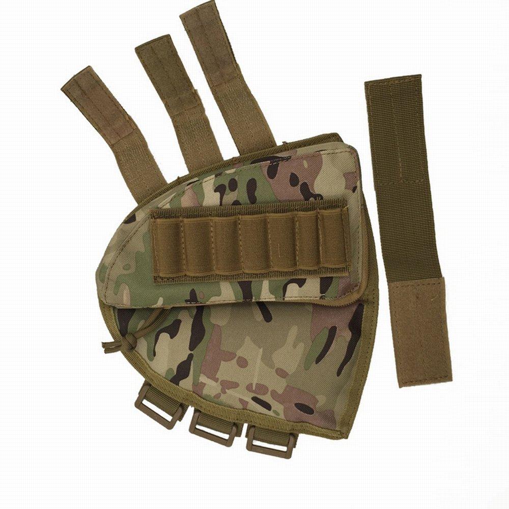 Rifle Stock Pack Cheek Pad Buttstock Ammo Holder Zippered