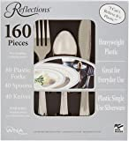 """Reflections Heavyweight """"Looks Like Silver"""" Disposable Flatware, 160 Piece"""