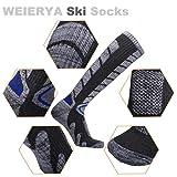 WEIERYA Ski Socks 2 Pairs Pack for