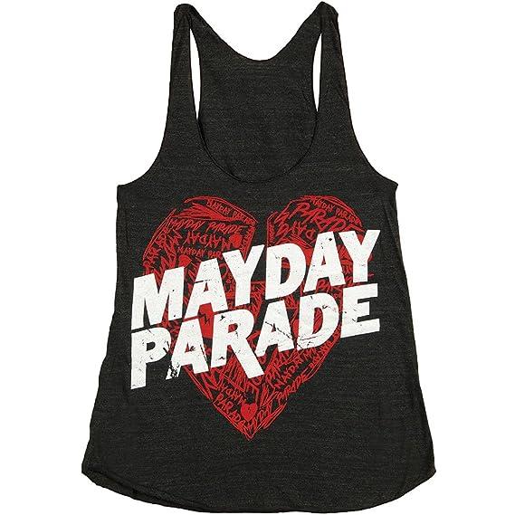 Amazon Mayday Parade Womens Sketchy Heart Womens Tank Large