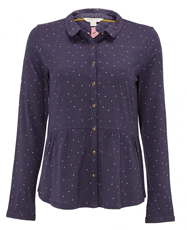a077571eb0cef White Stuff size 6 - 18 Mini Spot Jersey Cotton Navy Blue Shirt Blouse Top  (6)  Amazon.co.uk  Clothing