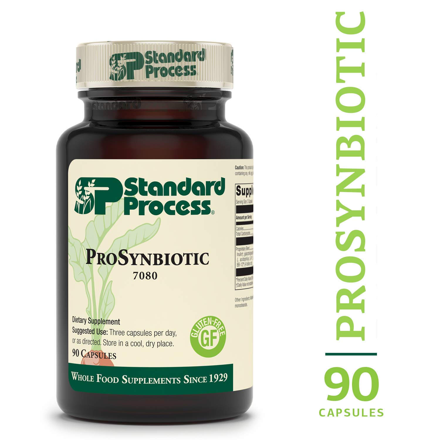 Standard Process - ProSynbiotic - Probiotic and Prebiotic Blend to Support Gut Flora and Overall Intestinal Health, Improves Nutrient Digestion, Gluten Free - 90 Capsules