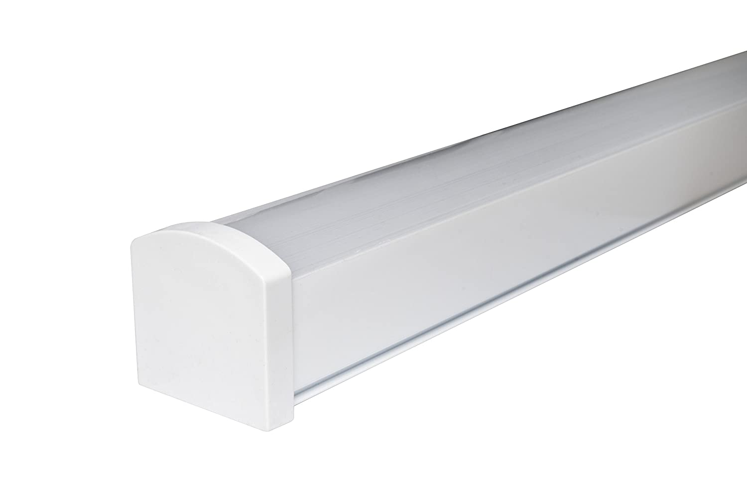 45W 5ft Industrial LED Batten Tube Light Surface Mount or Hanging IP Rated Triproof Fittng in Cool White T8 Fluorescent Replacement Home or Commercial Use [Energy Class A+] Long Life Lamp Company