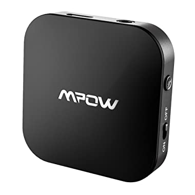 Mpow 5.0 Bluetooth Transmitter for TV, Aux Bluetooth Adapter with 50 Feet Long Range and 30 Hours Long Playing Time, Wireless 3.5mm Audio Adapter (Dual-Link, aptX, aptX-LL, SBC