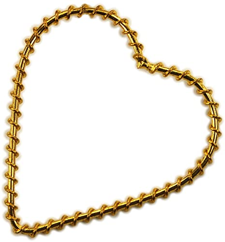 Finding, Gold Wire Wrapped Heart Frame (2)