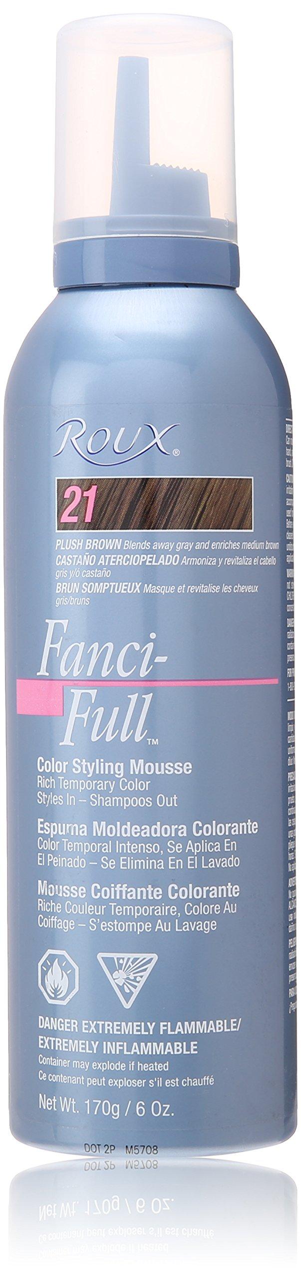 Roux Fanci-Full Mousse, 21 Plush Brown, 6 Fluid Ounce