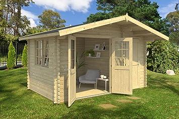 Jardín Casa G54 con soporte suelo - 40 mm listones hogar, superficie: 11,70 M², tejado: Amazon.es: Bricolaje y herramientas