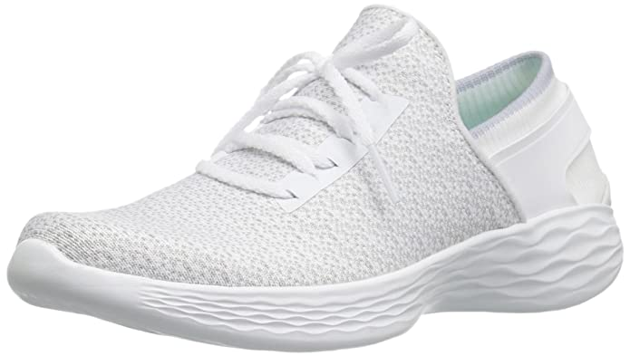 Skechers You-Inspire, Zapatillas sin Cordones para Mujer, Blanco (White), 37 EU (4 UK)