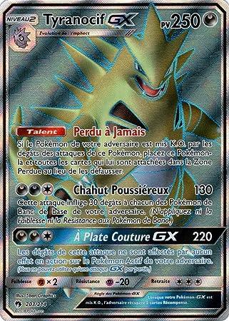 Carte Pokemon Sl8 Tyranocif Gx 250 Pv 203 214 Full Art Amazon Fr Jeux Et Jouets