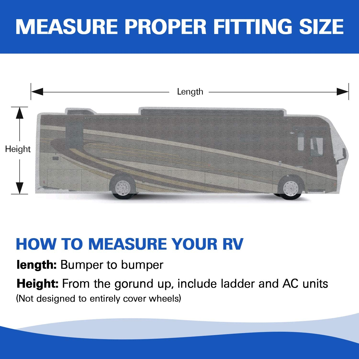 arch motor RV Travel Trailer Cover 3 Layers Fit Class A up to 24 Long