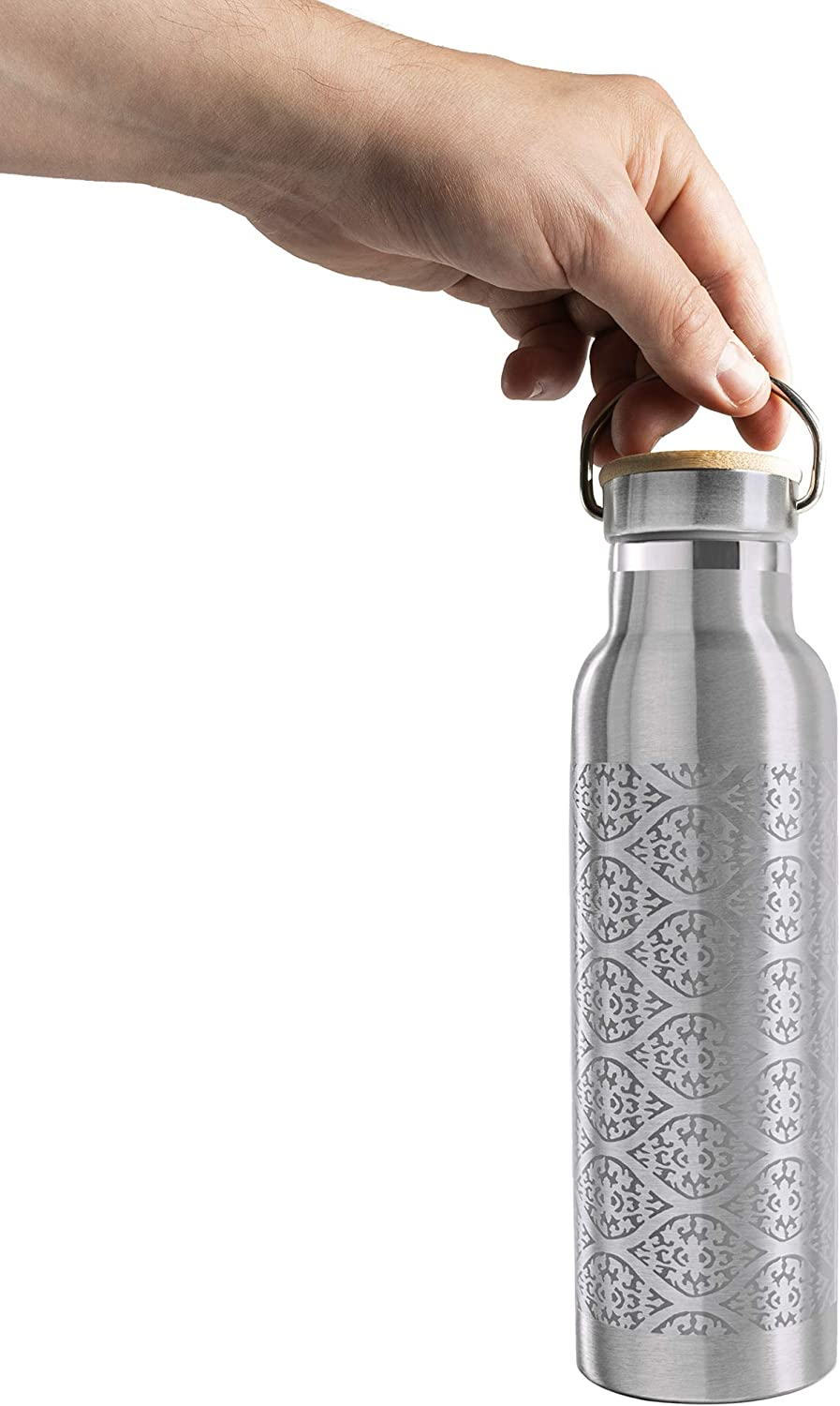 600 ml Lotuscrafts Botella Agua Acero Inoxidable Ideal para Yoga 100/% Herm/ética y Antiderrames Botella Termo para Bebidas Fr/ías y Calientes Deporte y Vida Cotidiana - Doble Pared