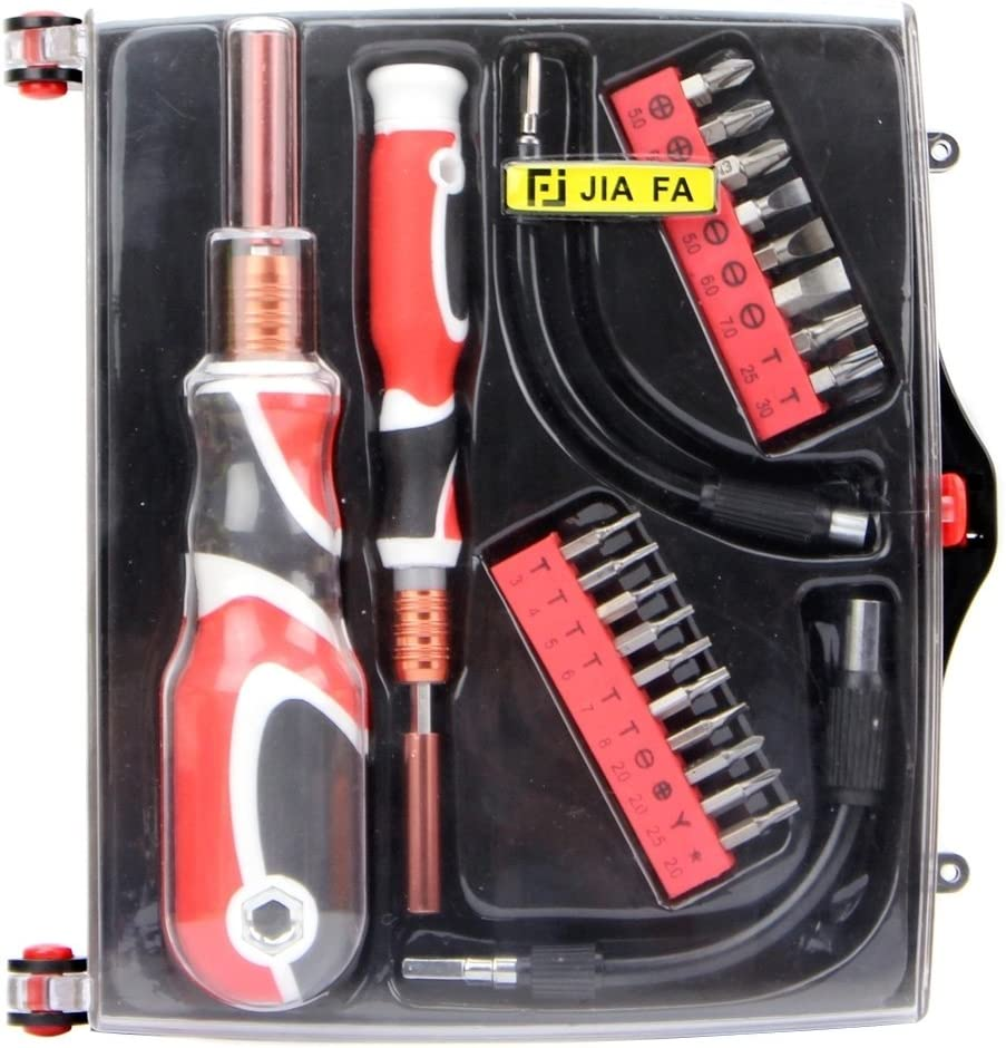 Convenient Family Must-Have Repair Tool JF-6095A 24 in 1 Durable Professional Multi-Functional Screwdriver Set for Phone