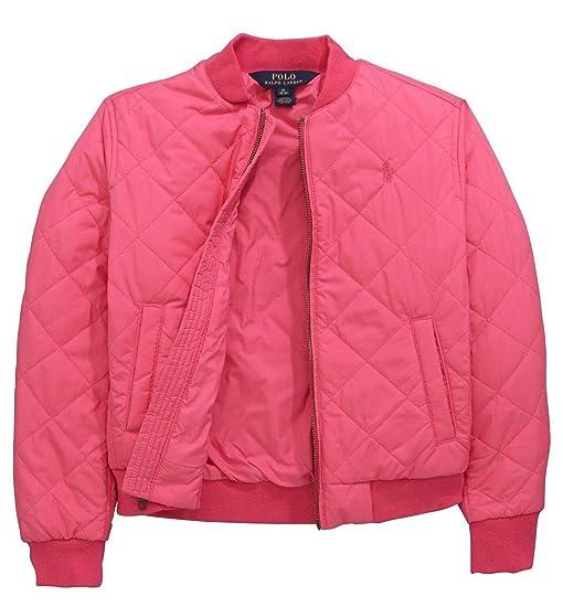 Amazon Ralph Lauren Polo Girls Quilted Bomber Jacket Coat 4 4t