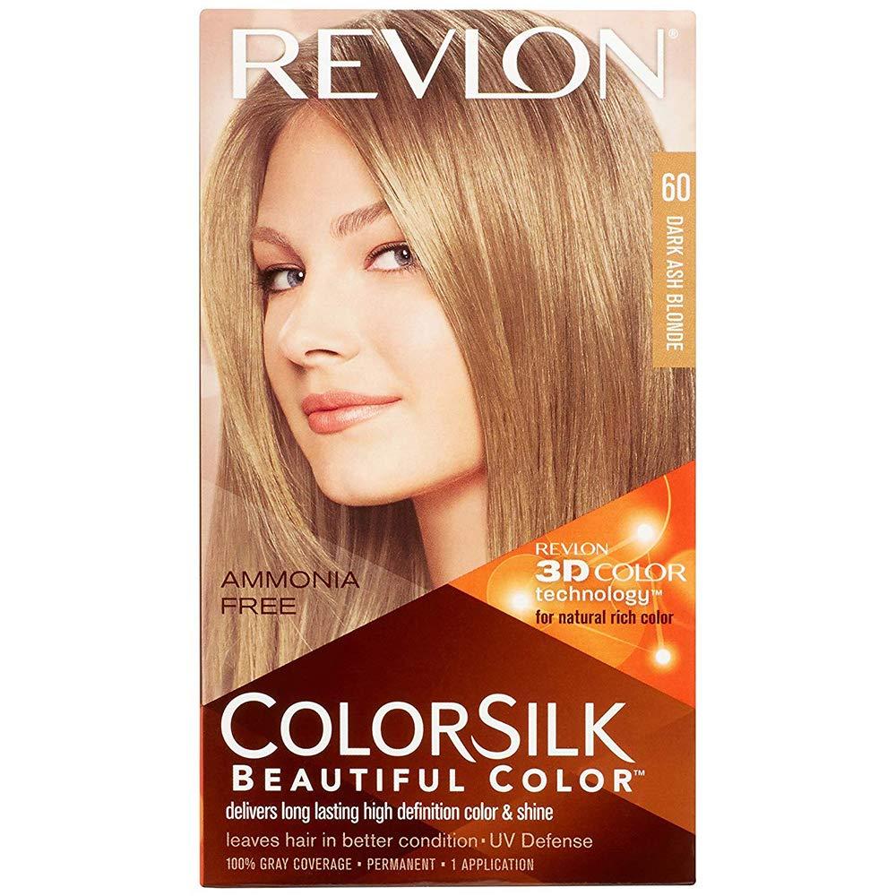 Revlon ColorSilk Hair Color, 60 Dark Ash Blonde 1 ea (Pack of 6)