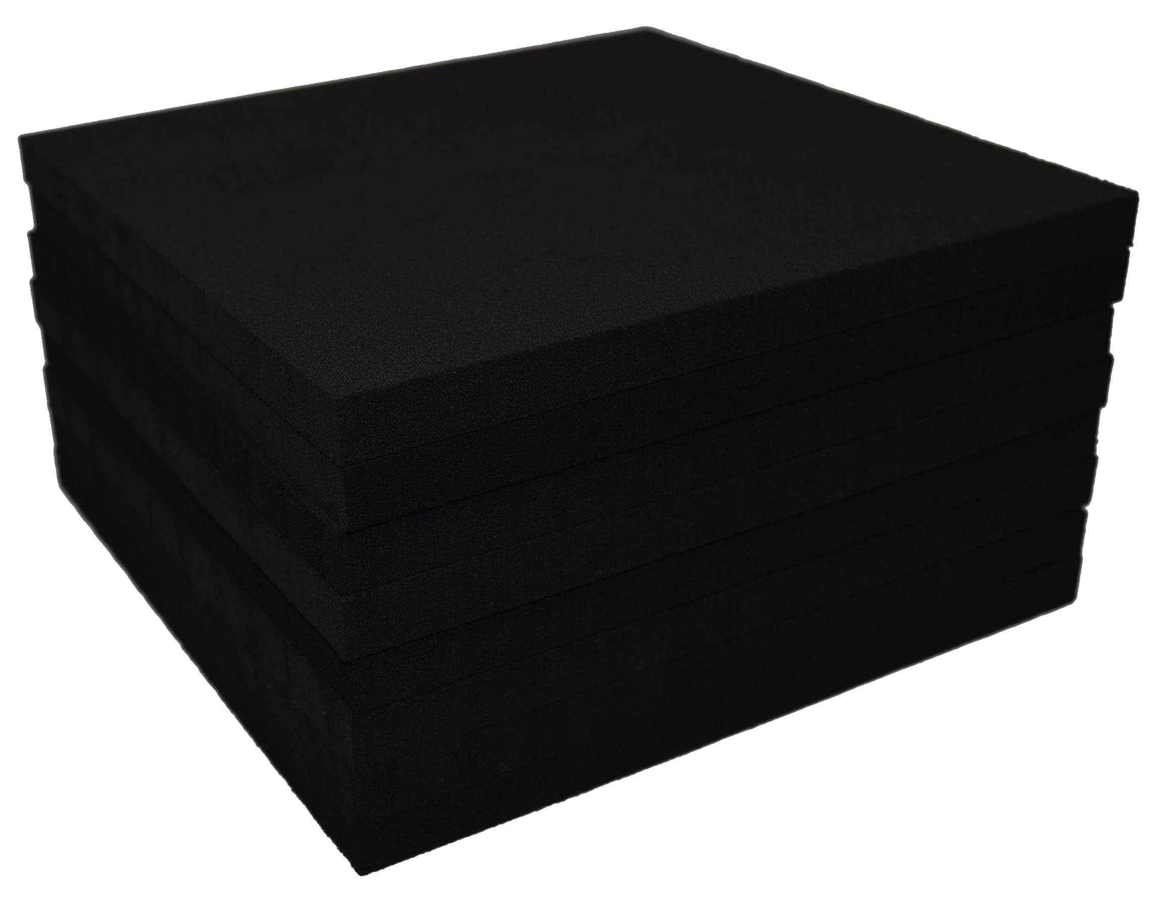 Xcel Rubber Foam Non Slip Furniture Pads, Craft Foam, Cushion Foam, Acoustic Foam Studio Squares 6 in x 6 in x 3/8 in (8 Pack)