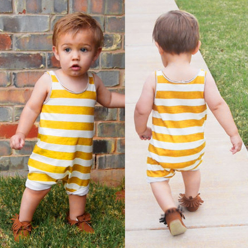 Palarn Stylish Toddler Jumpsuit, Baby Boys&Girls Striped Sleeveless Cute Romper Outfits Clothes by Palarn (Image #2)