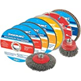Silverline, Set di accessori per smerigliatrice angolare, 12 pz. - 633831