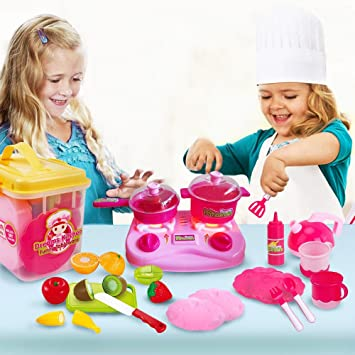 Amazon.com: Mini Toy Kitchen Set for Girls/Kids/Toddlers ...