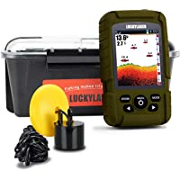 $130 » LUCKY Water Depth Fish Finders Waterproof Portable Fishing Fish Finder Display Handheld Ice…