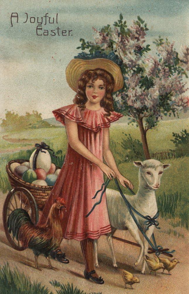 ; Art Print of Vintage Art : Joyful Easter